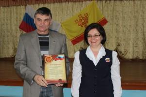 Кадетская поверка с участием Главы администрации г. Шумерля Зиновьева Александра Геннадьевича