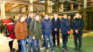 Девятиклассники в гостях у градообразующего предприятия г. Шумерля