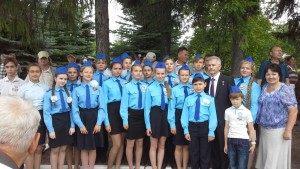 Юные космонавты Шумерли  на мероприятиях,  посвященных 55-летию первого  полета в космос  Андрияна Григорьевича  Николаева
