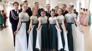 Кадеты 8 класса  — участники  республиканского конкурса бального танца «Бал четырех Побед»