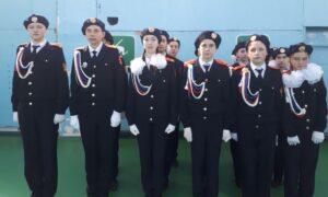 Победители конкурса строевой подготовки «Кадетская поверка» взвод кадет 8 класса