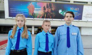 Юные космонавты отряда «Кондор» приняли участие в торжественном мероприятии, посвященное 90-летию со дня рождения летчика-космонавта Андрияна Григорьевича Николаева