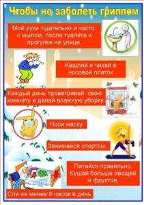 О мерах профилактики гриппа, ОРВИ и короновирусной инфекции