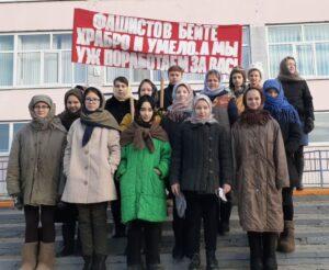 Школьники МБОУ «СОШ № 6» приняли активное участие в митинге, посвященного строительству Сурского оборонительного рубежа